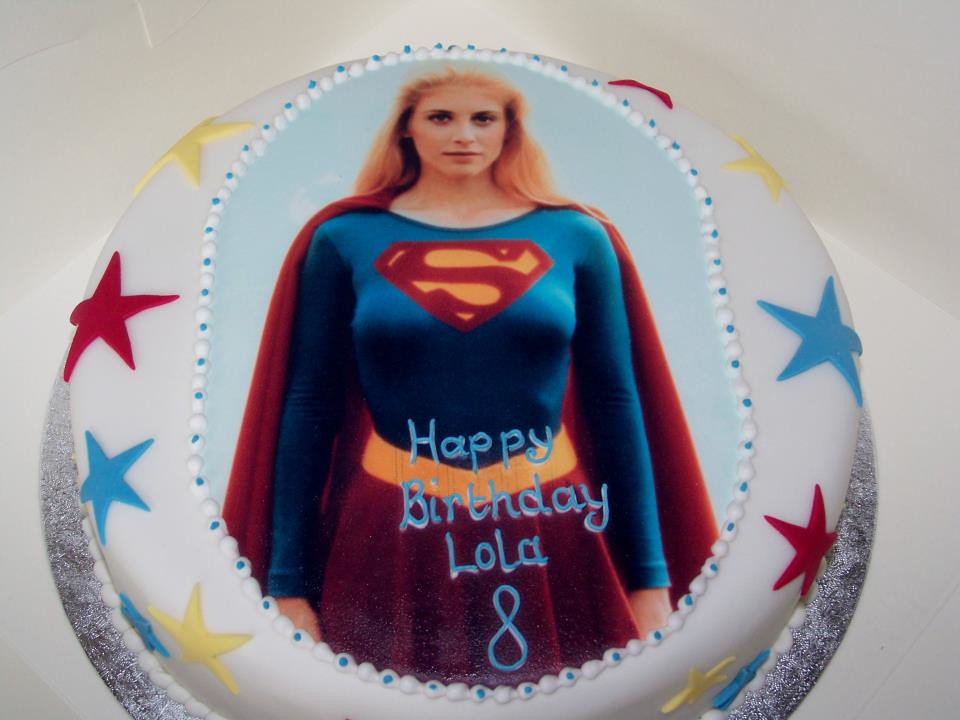 Sensational Supergirl Birthday Cake A Photo On Flickriver Funny Birthday Cards Online Elaedamsfinfo