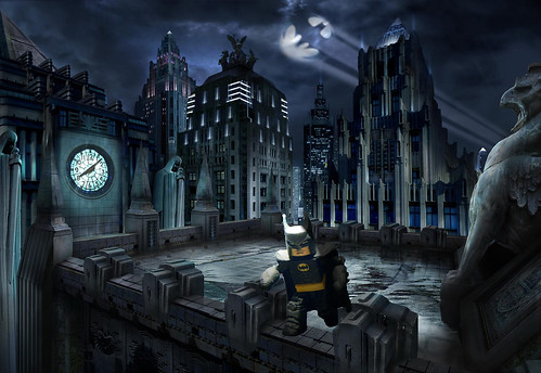 Batman Video Game Rooftop Edit