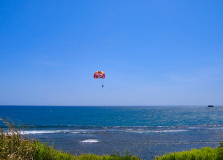 Paragliding into the blue..