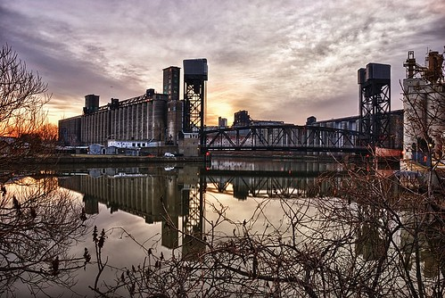 street morning bridge ohio sky lake ny newyork reflection water colors vertical clouds sunrise canal pond buffalo downtown lift steel earlymorning niagara upstatenewyork region westernnewyork ohiostreet buffaloriver