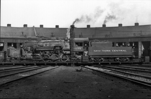 New York Central 7448 On Turntable At Ashtabula Roundhouse