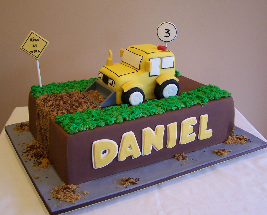 Marvelous Construction Truck Cake My Client Sent Me A Sketch He Made Flickr Birthday Cards Printable Benkemecafe Filternl