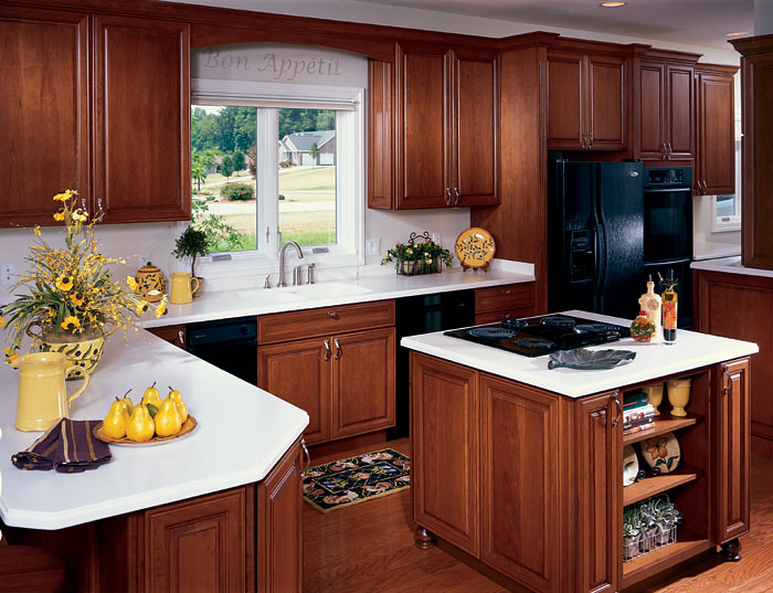 Galleria Cherry Brandywine Kitchen Cabinetry Columbia