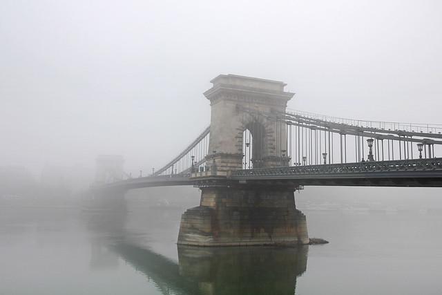 The foggy Chain Bridge