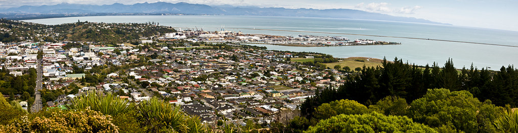 Nelson, New Zealand | Panorama stitched together by Photosho… | Flickr