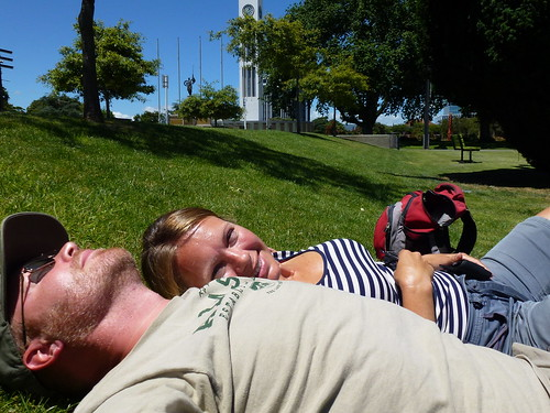 Palmerston North - lunchbreak op The Square