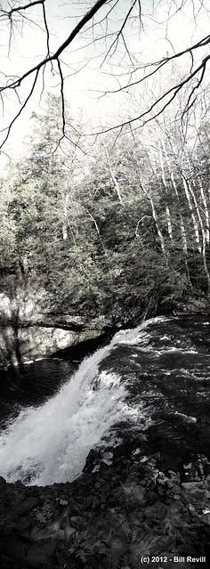 Wadsworth falls vertical panorama