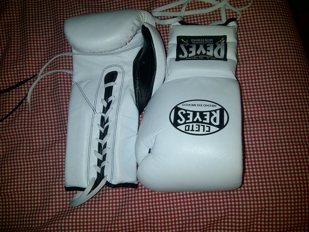 White Cleto Reyes Boxing Gloves | 16 oz Mexican Made, willin