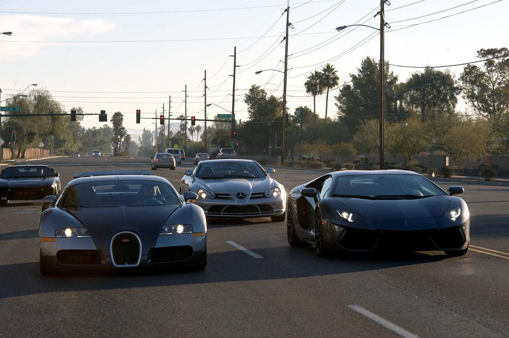 Bugatti Veyron Lamborghini Aventador And Mercedes Slr Mc Flickr