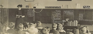OR Sheridan OR RPPC Wonderful School Room Teacher Attentive Students Lessons on Blackboards Photographer Unknown Unsent AZO5 | by UpNorth Memories - Donald (Don) Harrison