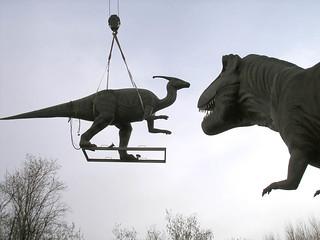Flying Parasaurolophus
