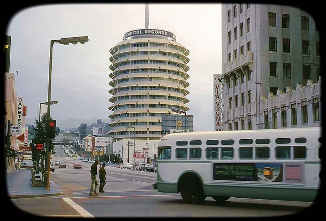 Capitol Records Tower in Hollywood, Los Angeles, 1750 Vine Street in 1965