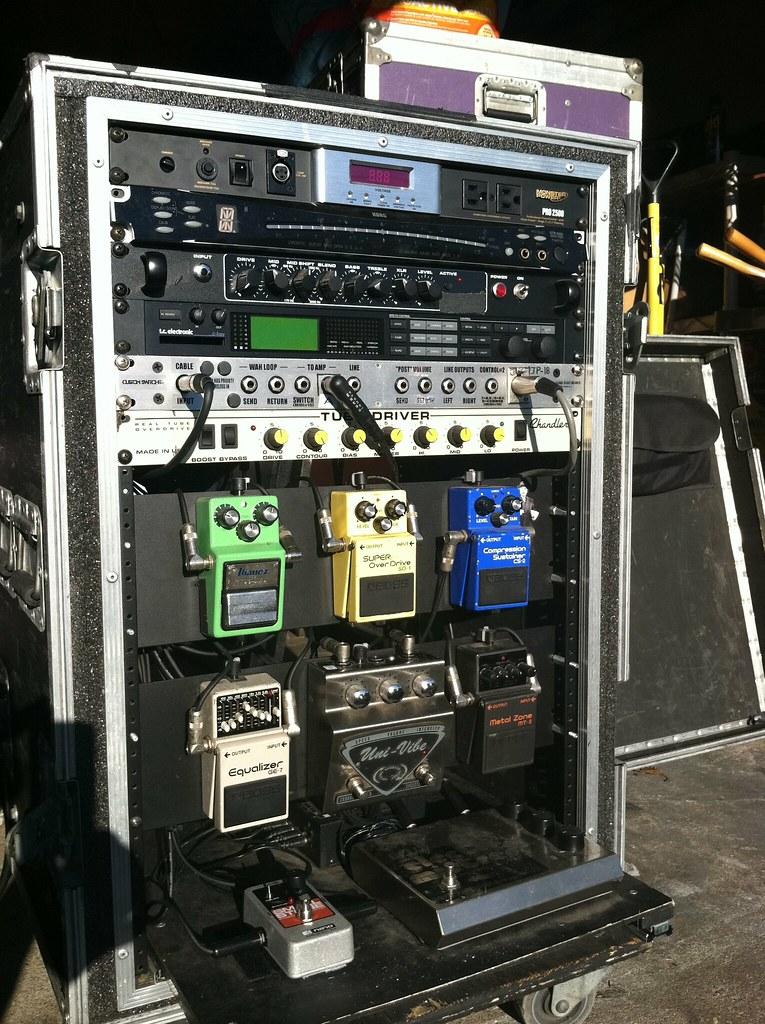 my live guitar rack   by buchlajoe