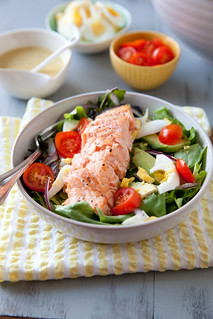 Salmon Salad with Honey Mustard Vinaigrette | Annie's Eats | by annieseats