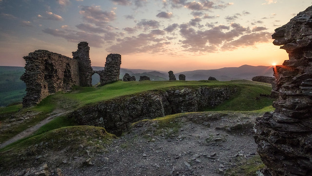 Last Moment Of Light At Castle Dinas Bran .. Wales