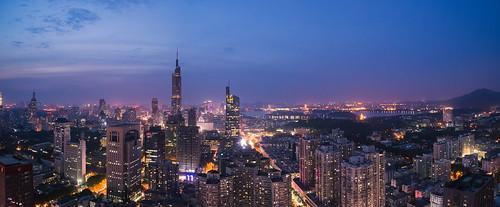 china city sunset summer sky urban panorama building skyline architecture night skyscraper sunrise dark twilight nikon cityscape dusk tall nanjing d800 nikond800 tamronsp1530f28