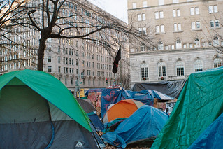 Occupy DC: Occupy camp in McPherson square December, 4th 2011