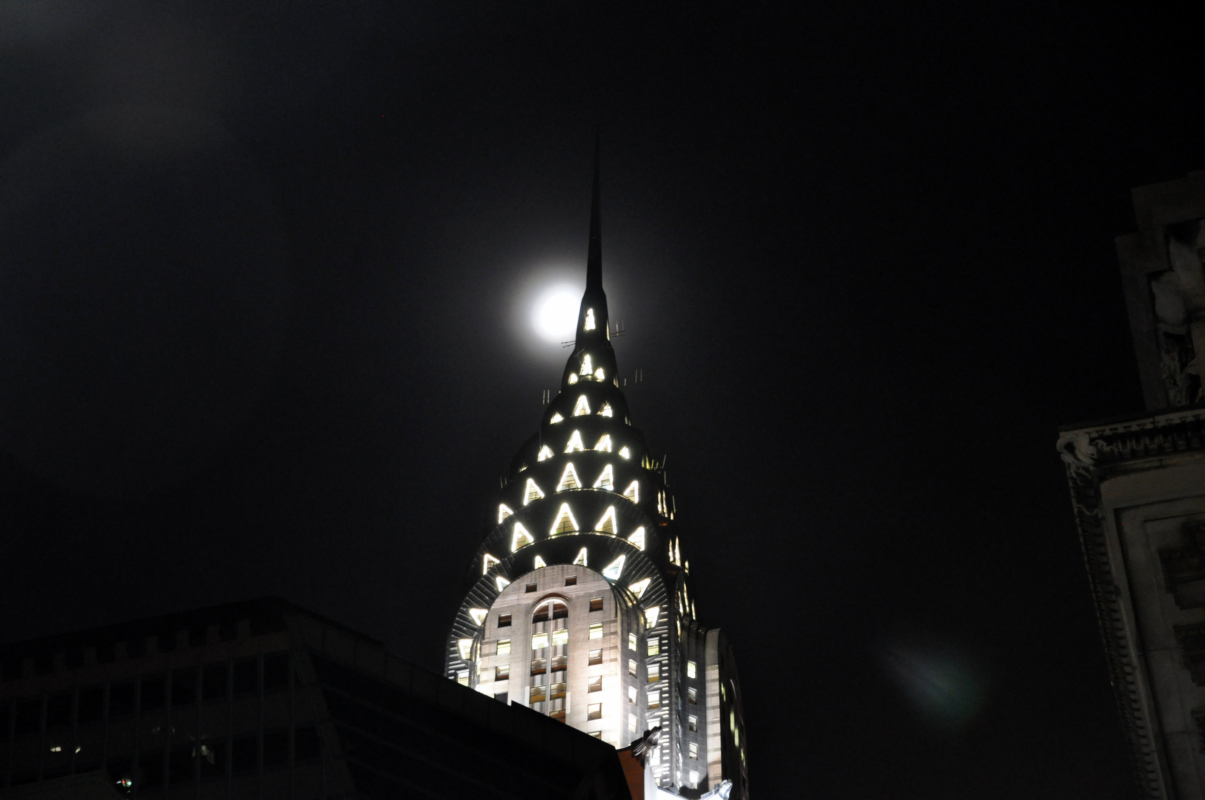 Moon Over the Chrysler Building