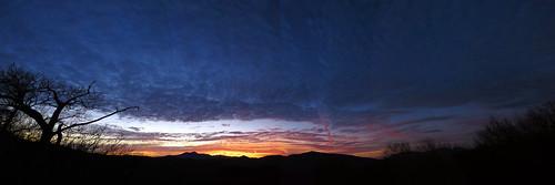sunset panorama landscape northcarolina blueridgeparkway photostitch grandfathermountain westernnorthcarolina southernappalachians ccbyncsa ravenrockoverlook canonpowershotsx40hs
