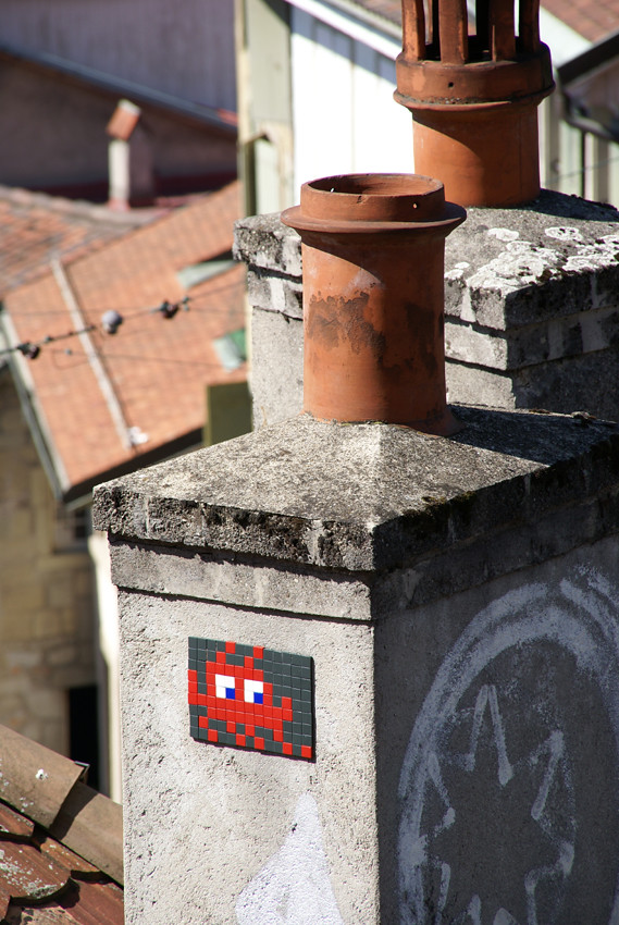 """Space invador"", The invaders, Space invader, Lausanne, Switzerland 04711"