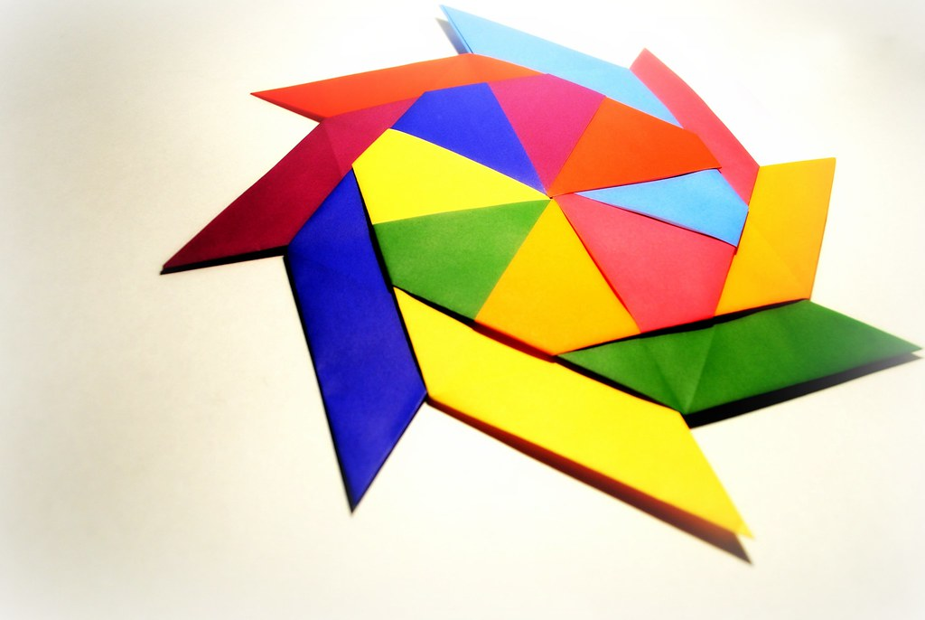 3D Origami Transforming Ninja Star. (Instructions) (Ray Bolt ... | 686x1024