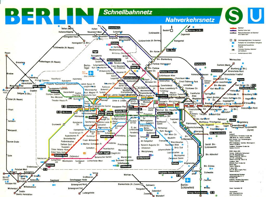 Berlin S Bahn And U Bahn Map 1998 A Map Of Berlins S Flickr - Berlin-us-bahn-map