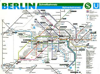Berlin - S-Bahn and U-Bahn Map (1998)