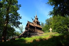 Fantoft Stave Church, Bergen 木教堂