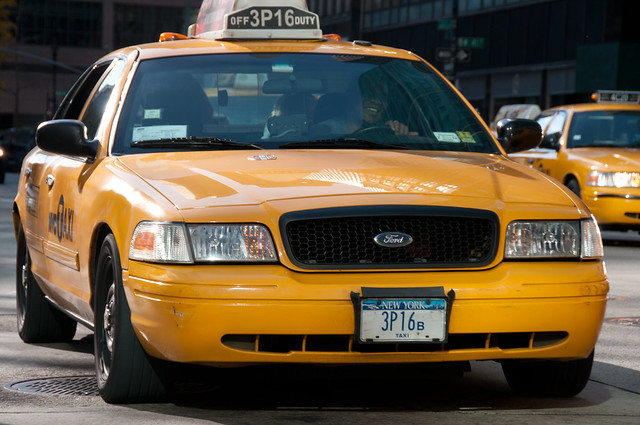 Smiling cab