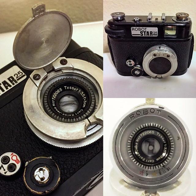 Carl Zeiss Jena Tessar 30mm lens on Robot Star 25