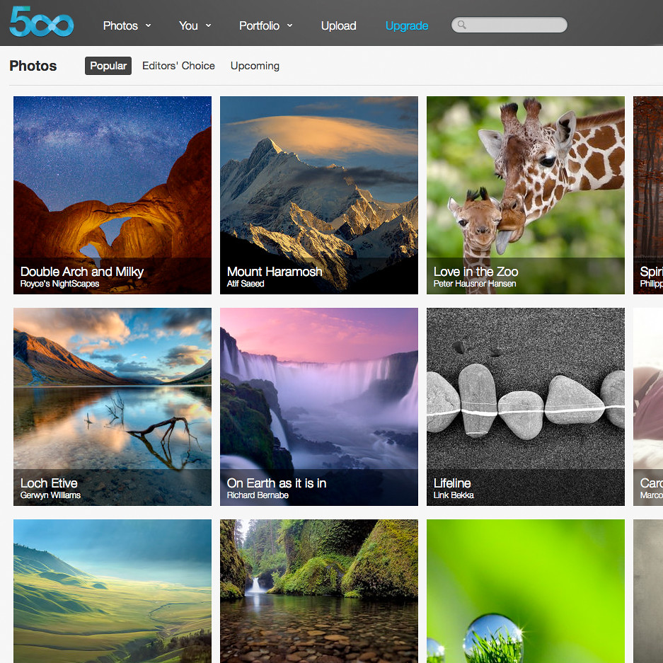 Most 'Popular' in only 18 hours: comparing 500px and Flick