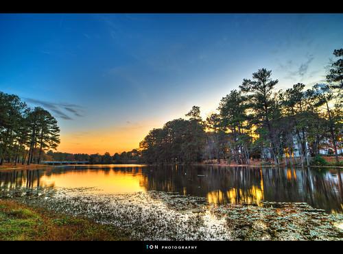 sunset lake sc landscape columbia hdr