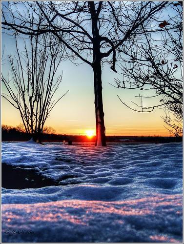 winter sky snow sunrise pa hickoryrun jimthorpepa