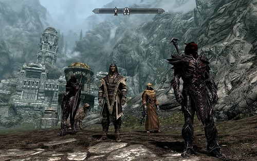 "Me and my posse in Skyrim | by John ""Pathfinder"" Lester"