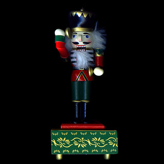 WOODEN TOY SOLDIER NUTCRACKER... A CHRISTMAS THEME.