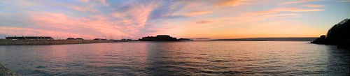 sea clouds sunrise stitch panoramic guernsey castlecornet stpeterport havelet htcdesirehd