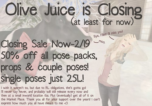 Olive Juice is Closing