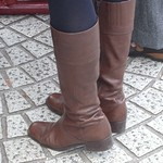 low heel knee high boots
