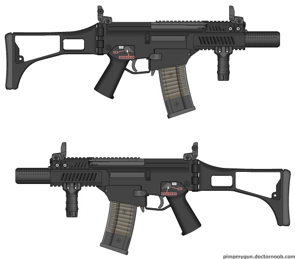 G36 No Carry Handle Integrally Suppressed | Frank_Bungay