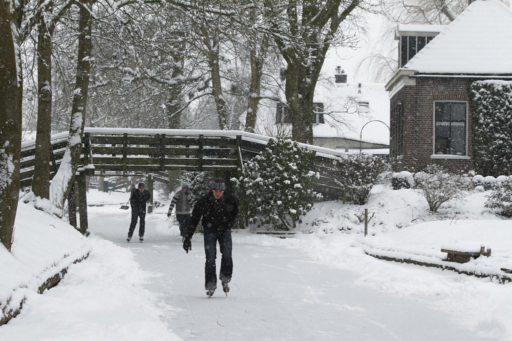 Winter In Giethoorn Plaatjes Van Giethoorn Tijdens Een Sne Flickr