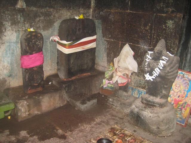 38.Periya and Siriya Thiruvadi in front of Perumal shrine
