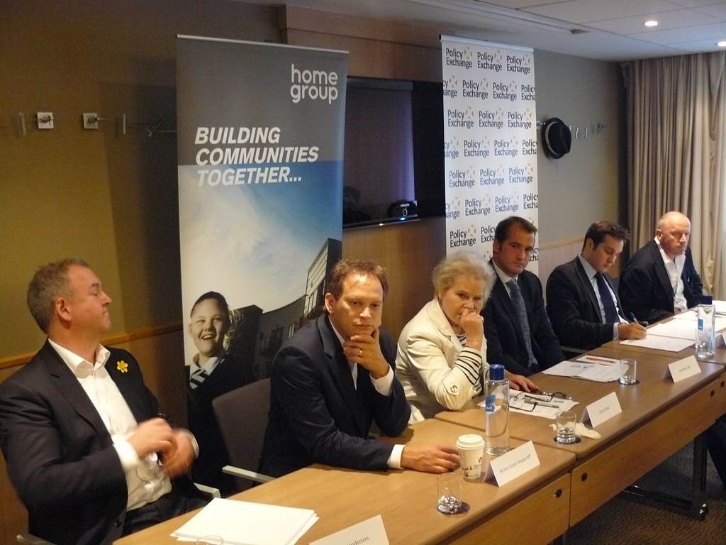 From left to right: Mark Henderson, Rt Hon Grant Shapps MP, Janet Daley, Jake Berry MP, Alex Morton, Tom Bloxham MBE