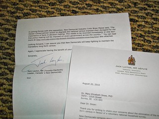 Found while cleaning - letter with Jack Layton's signature | by Beth77