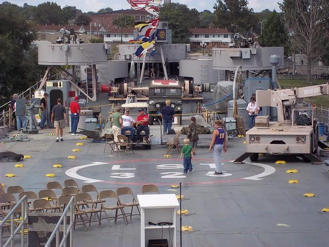 front gun deck area