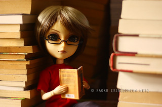 Hey Girl, I won't take this book out... | by kaoko