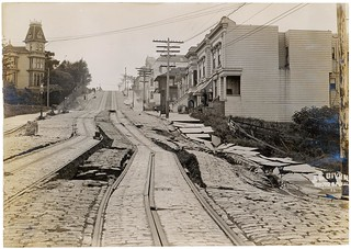Photograph of Union Street Car Line After the 1906 San Francisco Earthquake, 1906 | by The U.S. National Archives