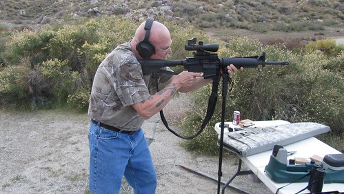 jim with AR-15 at Cabazon Range_4868 | by SkinheadSportBiker1