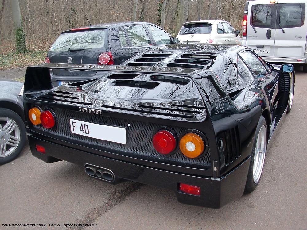 Black Ferrari F40 This Is A Beautiful Black Ferrari F40 I Flickr