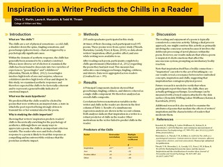 Poster - Inspiration in a writer predicts the chills in a reader - final
