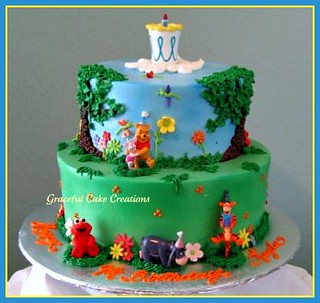 Super Winnie The Pooh Birthday Cake The Birthday Girl Invited El Flickr Funny Birthday Cards Online Necthendildamsfinfo